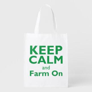 Farm On Reusable Grocery Bag