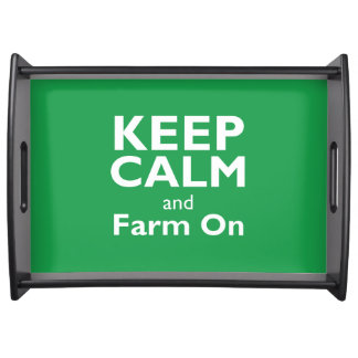 Farm On Serving Tray