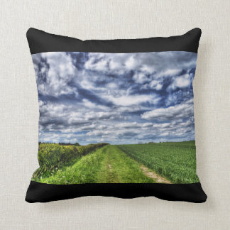 Farm Path Skyscape HDR Cushion