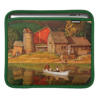 Farm Pond Landscape by Mead Schaeffer Sleeve For iPads