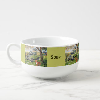 """""""FARM"""" Print Soup Mug. Soup Mug"""