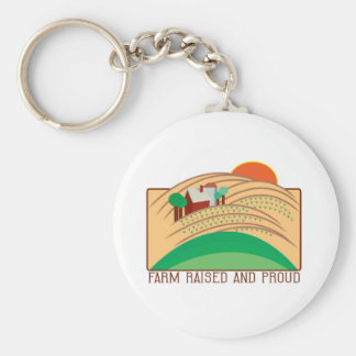 Farm Raised And Proud Basic Round Button Key Ring