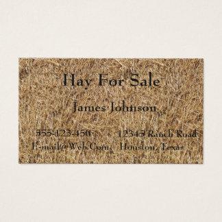 Farm Ranch Hay Bale Print Business Cards