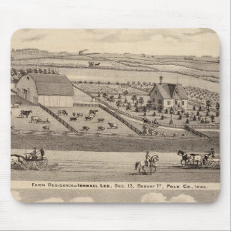 Farm residence of I Lee & residence of T Mitchell Mouse Mat