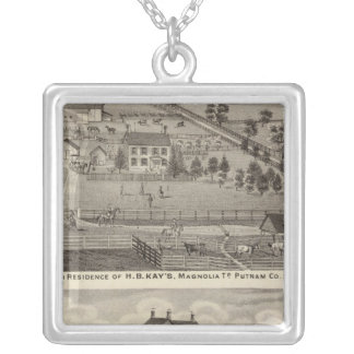 Farm residences of HB Kay and YA Glenn Silver Plated Necklace