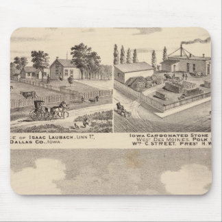 Farm, residences & pipe works mouse mat