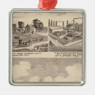 Farm, residences & pipe works Silver-Colored square decoration