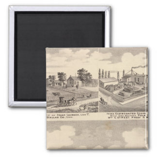 Farm, residences & pipe works square magnet
