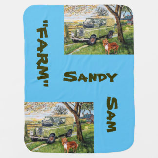 Farm Sandy Sam -Baby Blanket