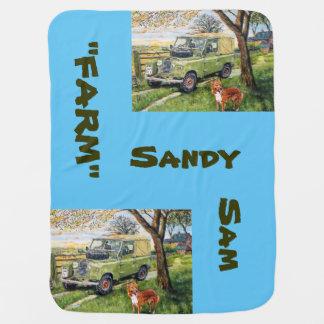 Farm Sandy Sam -Baby Blanket Baby Blanket