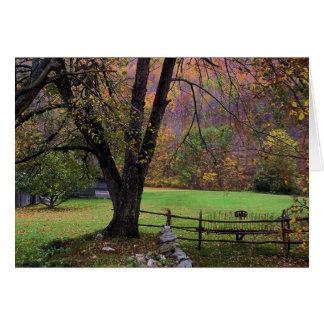 Farm scene,  Autumn  Card