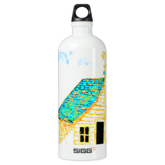 Farm Scene with shed, tree, and birdhouse SIGG Traveler 1.0L Water Bottle