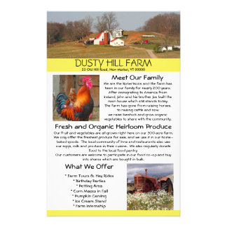 Farm Stand Business Flyer With Photo Templates