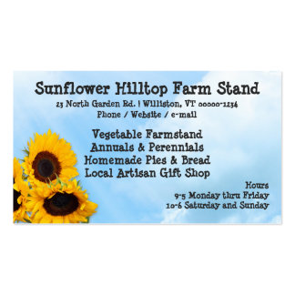 Farm Stand Sunflowers Blue Sky Business Cards