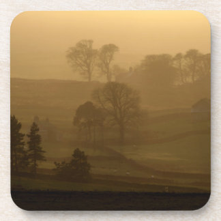 Farm Stead in the Evening Mist  Coaster set of 6