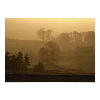 Farm Stead in the Evening Mist Invitation
