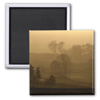Farm Stead in the Evening Mist  Magnet