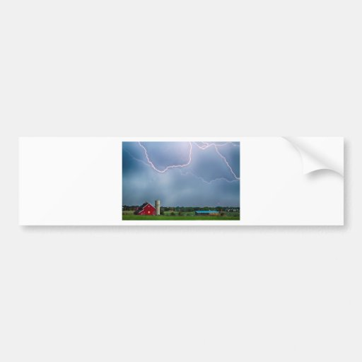 Farm Storm HDR Bumper Sticker