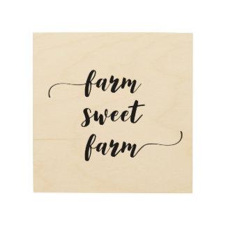 'Farm Sweet Farm' Wood Wall Art
