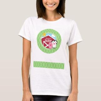 Farm Theme Baby Shower; Bright Green Ovals T-Shirt