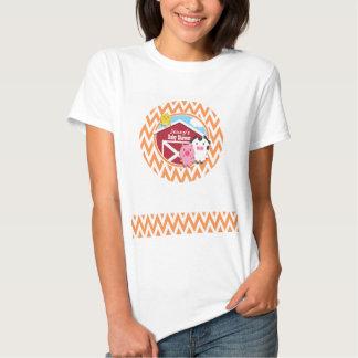 Farm Theme Baby Shower; Orange and White Chevron T-Shirt