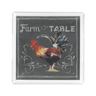 Farm to Table Rooster Acrylic Tray