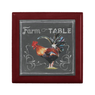 Farm to Table Rooster Small Square Gift Box