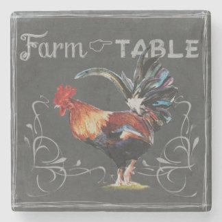Farm to Table Rooster Stone Coaster