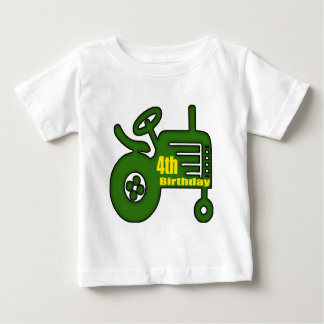 Farm Tractor 4th Birthday Gifts Baby T-Shirt