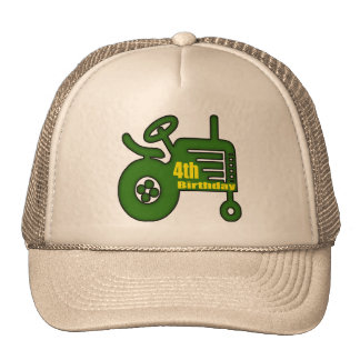 Farm Tractor 4th Birthday Gifts Cap