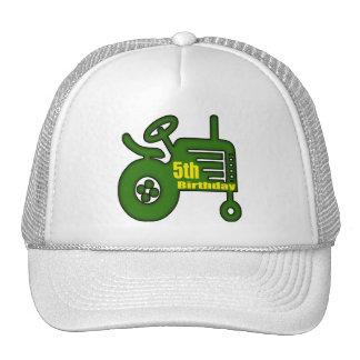Farm Tractor 5th Birthday Gifts Cap