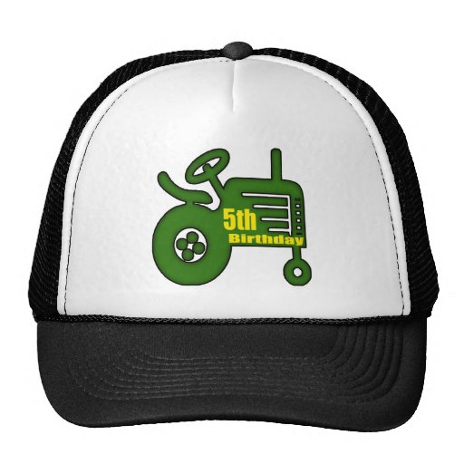 Farm Tractor 5th Birthday Gifts Hat