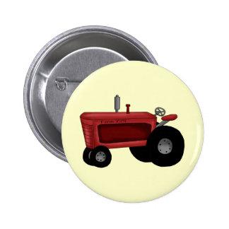 Farm Tractor 6 Cm Round Badge