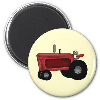Farm Tractor 6 Cm Round Magnet