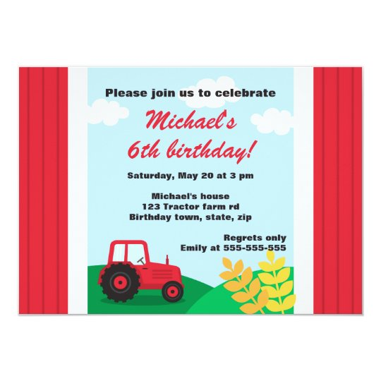 Farm tractor hills and wheat kids birthday party