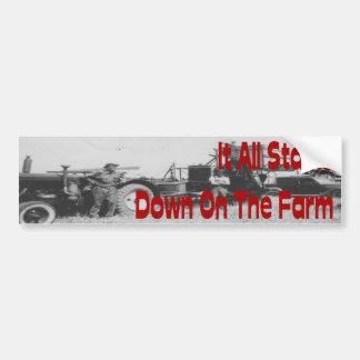 Farm Tractor Threshing Bumper Sticker