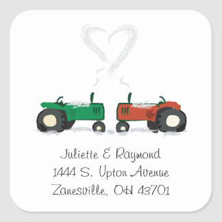 Farm Tractor Wedding Envelope Seal