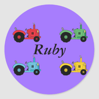 Farm Tractors Classic Round Sticker