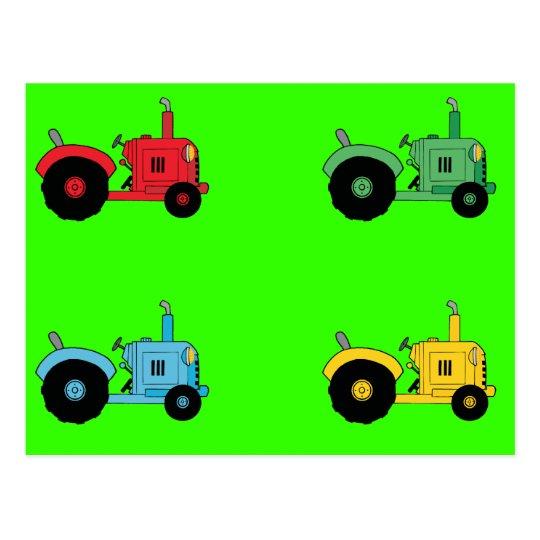 Farm Tractors Postcard