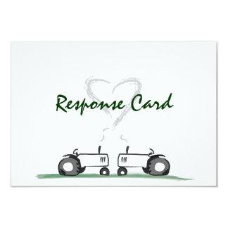 Farm Wedding RSVP Card: Classic Style 9 Cm X 13 Cm Invitation Card