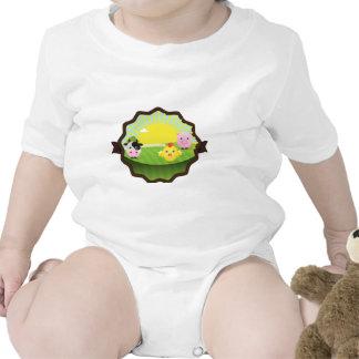 Farm Yard Friends Baby Bodysuit