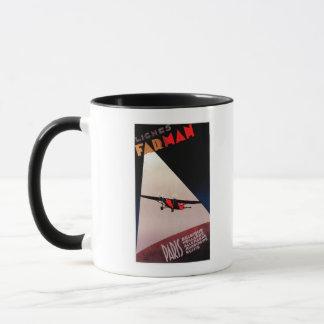 Farman Airlines Farman 300 Monoplane Promo Poster Mug