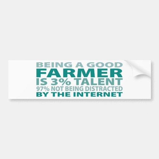 Farmer 3% Talent Bumper Stickers
