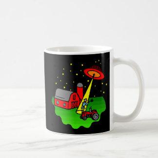 Farmer Alien Abduction Coffee Mug