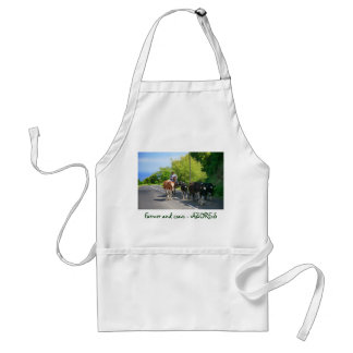 Farmer and cows standard apron
