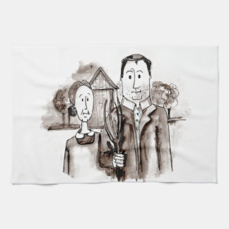 Farmer and Wife Kitchen Towel