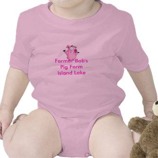 Farmer Bob's Pig Farm Baby Bodysuits
