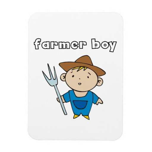 Farmer Boy Rectangular Magnet