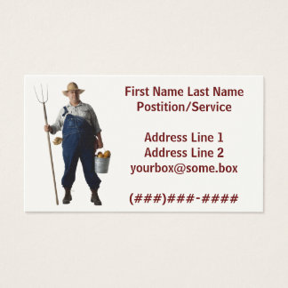 Farmer Business Card