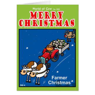 Farmer Christmas Card